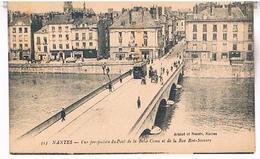 44 NANTES  VUE PERSPECTIVE  DU PONT DE LA BELLE CROIX ET LA RUE BON SECOURS  TBE LA351 - Nantes