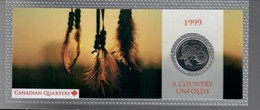 Canada 1999 1/4 $ A Country Unfolds - Canada