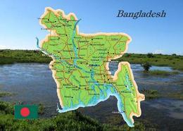 Bangladesh Country Map New Postcard Bangladesch Landkarte AK - Bangladesh