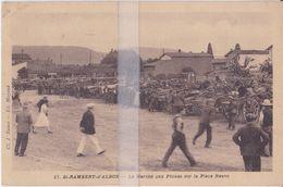 CPA SAINT-RAMBERT-D'ALBON  LE MARCHE AUX PÊCHES SUR LA PLACE NEUVE - Autres Communes