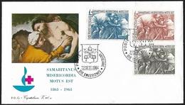 1964 - VATICANO - FDC + Y&T 410/412 [Emilio Greco] + POSTE VATICANE - FDC