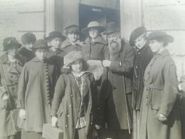 ACADÉMIE DE DESSIN DE LOUVAIN BRABANT FLAMAND BELGIQUE ÉLÈVES PROFESSEUR PÉRIODE GUERRE 1914 - 1918  PERSONNES IDENTIFIÉ - Leuven