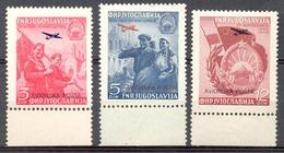 Yougoslavie 1949 - Yt PA 24/26 - 5ème Anniversaire Du Rattachement De La Macédoine - ** - Neufs