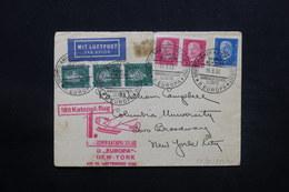 ALLEMAGNE - Enveloppe Par Catapulte Europa En 1930 Pour New York - L 28091 - Briefe U. Dokumente