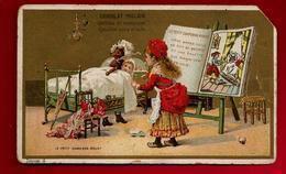 Chromo Chocolat Poulain Le Petit Chaperon Rouge - Enfant Loup Dans Lit Fable ... - Poulain