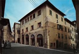 Cartolina Bibbiena Piazza Roma Bar Tabacchi Animata - Arezzo