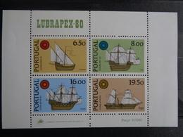 1980 BLOC Y&T N° 32 ** - LUBRAPEX 80 - EXPO PHILATELIQUE LUSITANO-BRESILIENNE - Blocks & Sheetlets