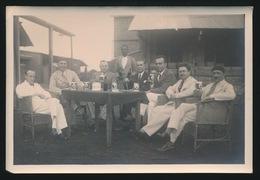 FOTO 1932 , 15 X 10 CM - RECITAL DESIMBA A LA BRASSERIE DU KATANGA ELISABETHVILLE - ZIE  SCAN 2 MET PROMINENTE FIGUREN - Belgisch-Kongo - Sonstige