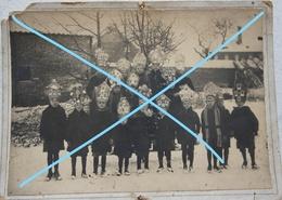 Photo BONEFFE Eghezée Taviers Saint Grégoire Enfants Avec Mitres Saint Nicolas ? Avant 1914 - Lieux