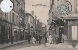 16 -Très Belle Carte Postale Ancienne De  COGNAC  La Rue  D'Angoulème - Cognac