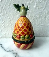 Joli OEUF-BOITE,  VILLEROY Et BOCH 1748  - Forme Ananas, Porcelaine - Villeroy/Boch (LUX)