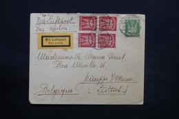 ALLEMAGNE - Enveloppe De Flensburg Pour La Belgique En 1929 Par Avion , Affranchissement Plaisant - L 28097 - Briefe U. Dokumente
