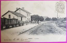 Cpa Burie La Gare 1900 Précurseur Rare Carte Postale 17 Charente Maritime Proche Saintes - France