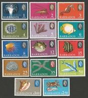 Barbados. Early Stamps. SG 322-335. MNH - Barbados (...-1966)