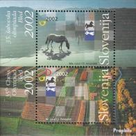 Slovénie Bloc 16 (complète.Edition.) Oblitéré 2002 Olympiade D'échecs - Slovenia