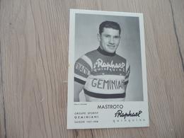 CPA Cyclisme Coureur Pub Saint Raphael Rapha Vin Doux Mastroto - Cyclisme