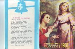 117)librettino Religioso Calendario Liturgico Mariano 1981 - Religion