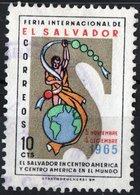EL SALVADOR, COMMEMORATIVO, FIERA, FAIR, 1966, 10 C., FRANCOBOLLO USATO Mi. 915,  Scott 766 - El Salvador