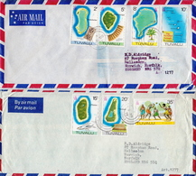 Postal History: Tuvalu 4 Covers With Definitive Stamps - Tuvalu