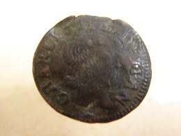 Monnaie. 6. Denier  Tournois Charles II De Gonzague Duc De Mantoue 1654 - 476-1789 Monnaies Seigneuriales