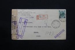 RUSSIE - Enveloppe En Recommandé De Pétrograd Pour L 'Italie En 1917 Avec Contrôle, Affranchissement Plaisant - L 28101 - Covers & Documents