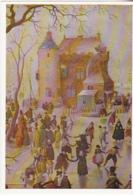 Postcard - Art - Hendrick Avercamp - A Winter Scene With Skaters Near A Castle (Detail 1346 - VG - Postcards
