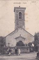 77-ECUELLÉS- ÉGLISE- ANIMÉE  (TACHÉ) - Autres Communes
