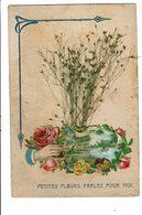CPA- Carte Postale En Relief -Belgique Petites Fleurs Parlez Pour Moi  - VM2664 - Fleurs