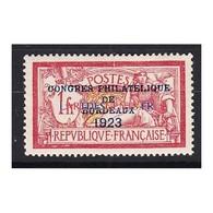 TIMBRE N°182 Congrès Bordeaux Année 1923  NEUF*  Signé  Côte 575 Euros - France