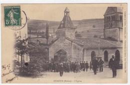 Rhône - Ouroux - L'église - France