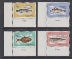 Faroe Islands 1983 Fishes 4v (corners) ** Mnh (42576D) - Faeroër