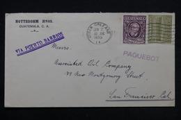 GUATEMALA - Enveloppe Pour San Francisco , Oblitération De New Orléans , Griffe Paquebot En 1930 - L 28106 - Guatemala