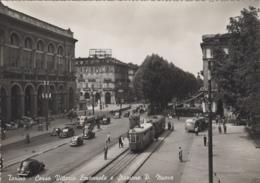 Chemins De Fer - Tramway - Italie - Turin - Corso Vittorio Emanuele Et Stazione - Gare - Automobiles - Tramways