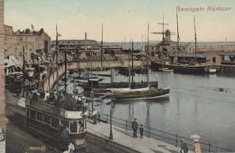 Chemins De Fer - Tramway - Angleterre - Port De Pêche De Ramsgae - Bâteaux 3 Mâts - Tramways