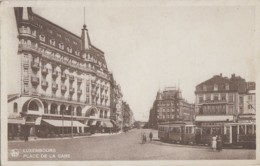 Chemins De Fer - Tramways - Luxembourg Place De La Gare - Tramways