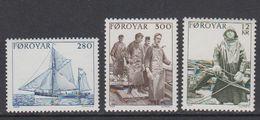 Faroe Islands 1984 Sea Fishing 3v ** Mnh (42576H) - Faeroër
