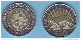 Uruguay 10 Pesos 2011 Bimetallic  Bimétallique - Uruguay