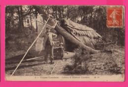 CPA (Ref: Z 1345) Types Landais (40 LANDES)  Cabane De Pêcheur Landais (animée) - Non Classés