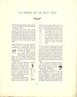 "3418 ""DA GAZETTE DU BON TON (PUBBLICATA DAL 1912 AL 1925)""LA MODE ET LE BON TON-LA ROBE TACHE'E-DA PAG.221 A PAG.224-OR. - 1900 - 1949"
