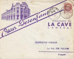 Oscar Desenfans ,magasin La Cave à Cambrai , Nord ,enveloppe Illustrée De 1942 - 1900 – 1949