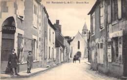 41 - MARCHENOIR : Grande Rue ( Boucherie BATTOLLA ? ) - CPA Village (700 Habitants) - Loir Et Cher - Marchenoir