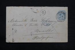 ARGENTINE - Entier Postal Pour La Belgique En 1892 , Cachet Ligne De Paquebot - L 28108 - Ganzsachen
