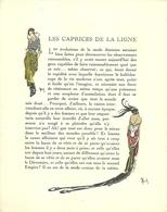 """3419 """"DA GAZETTE DU BON TON (PUBBL. DAL1912 AL1925)""""LES CAPRICES DE LA LIGNE-LE GOUT AU THEATRE-DA PAG.209 A PAG.216-OR. - 1900 - 1949"""