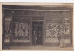 Carte Photo 1910 G . LENEZ Ou Senez MAGASIN CHEMISES SUR MESURE (photographe Duvau édité à Ermont Par Pejoux)à Classer - France