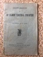 Historique Du 133 Eme Régiment Territorial D'infanterie En 14/18 - 1914-18