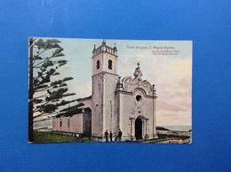 CARTOLINA FORMATO PICCOLO VIAGGIATA 1920 PORTOGALLO PONTA DELGADA S MIGUEL ACORES MAE DE DEUS CHURCH - Açores