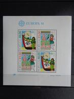 1981 BLOC Y&T N° 33 ** - EUROPA, FOLKLORE - Blocks & Sheetlets