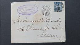Lettre Cachet Commercial Ralli Schillizi & Argenti Marseille 1886 Perforé RSA 57 ( Ancoper ) Pour Paris - Perforés