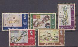 Bermuda 1979 Old Maps 5v ** Mnh (42577) - Bermuda