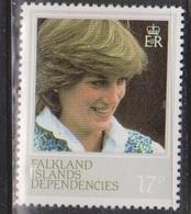 FALKLAND ISLANDS DEPENDENCIES Scott # 1L73a MNH - Princess Diana Perf 13.5 - Falkland Islands